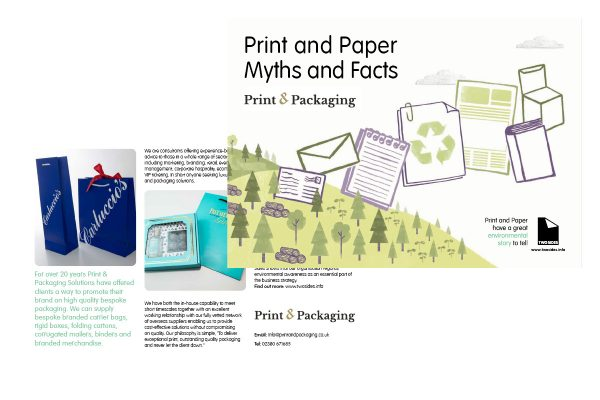 Print & Packaging Personalise Myths and Facts booklet