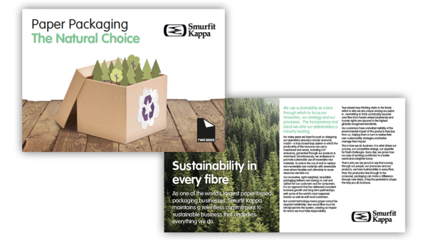 Smurfit Kappa collaborates with Two Sides to promote paper packaging