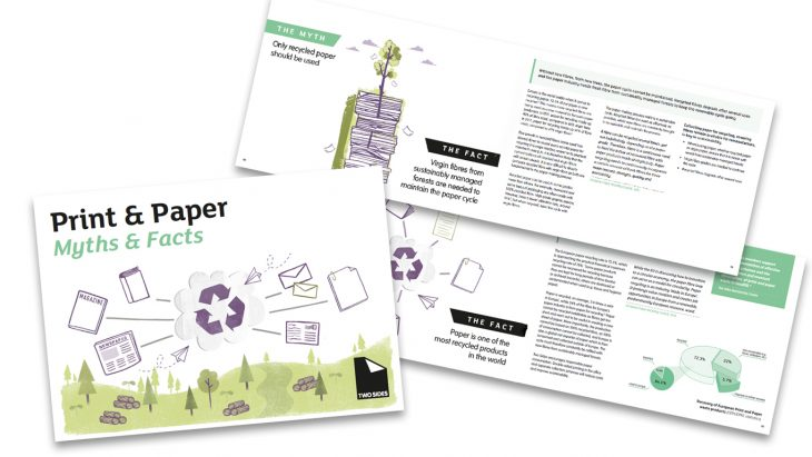Dispelling the myths around the print and paper industry – Two Sides release new Myths & Facts booklet | Sustainable Paper Packaging & Print | TwoSide