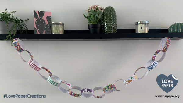 Two Sides' Love Paper campaign launches The Paper Chain Challenge
