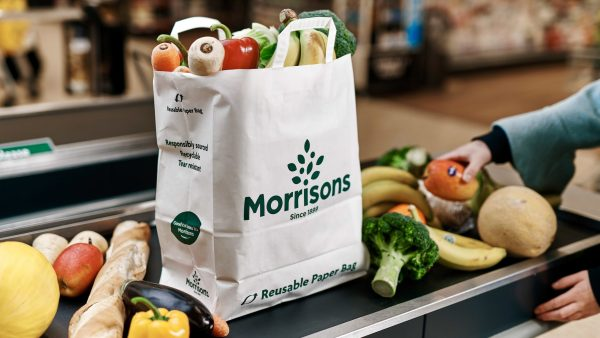 Paper bags favoured by Morrisons as they consider removing plastic bags from all stores