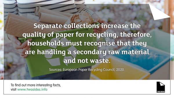 Paper Fact 19: Paper that you place into recycling is a key secondary raw material