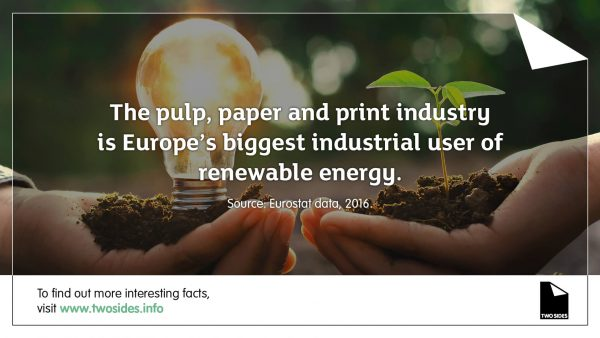 Paper Fact 11: The paper and print industry is Europe's biggest industrial user of renewable energy