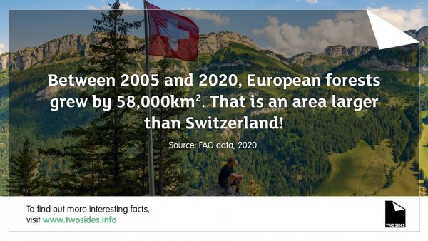 Paper Fact 10: EU forests have grown an area bigger than Switzerland