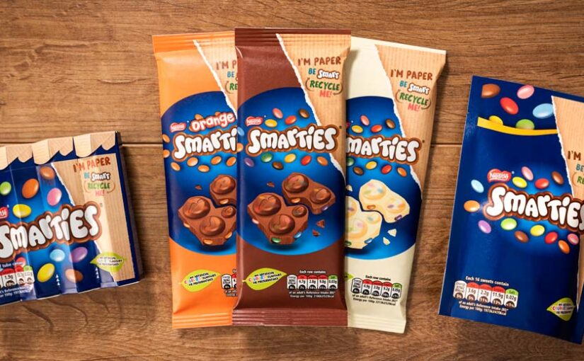Confectionary brand, Smarties, switch their products to recyclable paper packaging