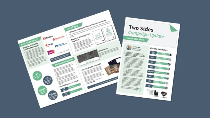 Two Sides Reports on European Campaign Results for 2020   Sustainable Paper Packaging & Print   TwoSide