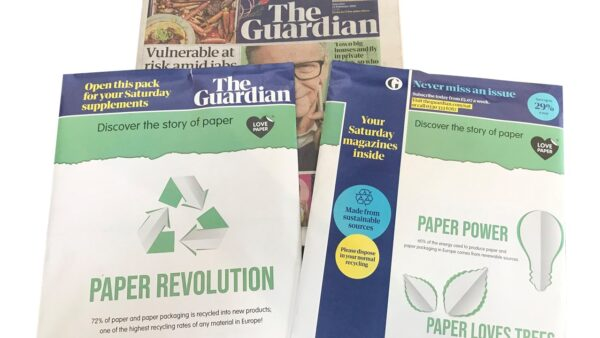 National Newspaper, The Guardian, Features Love Paper on Their First Paper Wraps