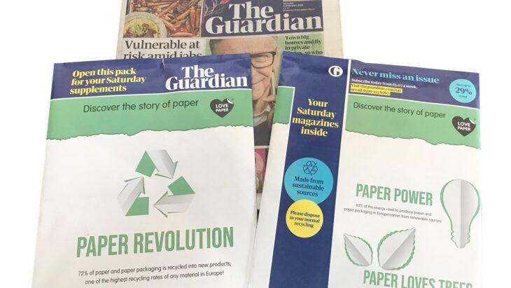 National Newspaper, The Guardian, Features Love Paper on Their First Paper Wraps | Sustainable Paper Packaging & Print | TwoSide