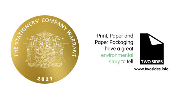 Two Sides receives the Stationers' Warrant for promoting the sustainability of print, paper and paper packaging