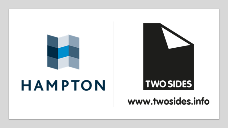 Hampton Printing joins Two Sides to promote the great environmental story of print | Sustainable Paper Packaging & Print | TwoSide