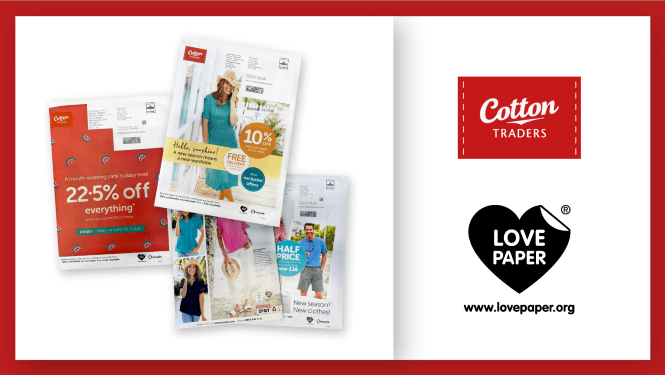 Cotton Traders Promotes The Use Of Sustainable Print Media With Love Paper | Sustainable Paper Packaging & Print | TwoSide