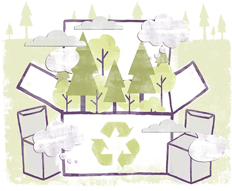 Paper-based packaging protects goods, reduces waste and is recyclable